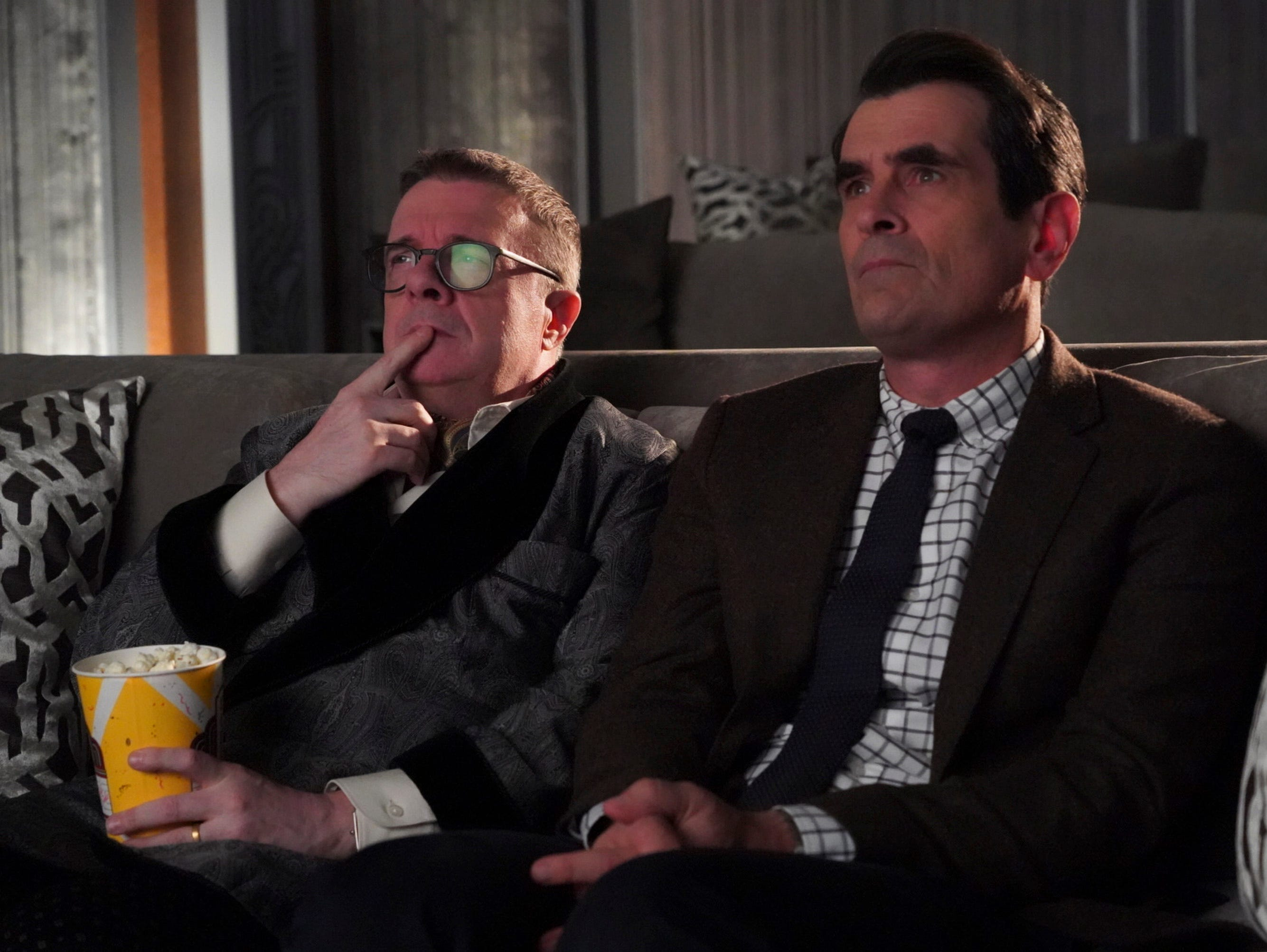 The show was also well known for its celebrity guest stars including Benjamin Bratt, Fred Willard and Nathan Lane (left, with Ty Burrell).