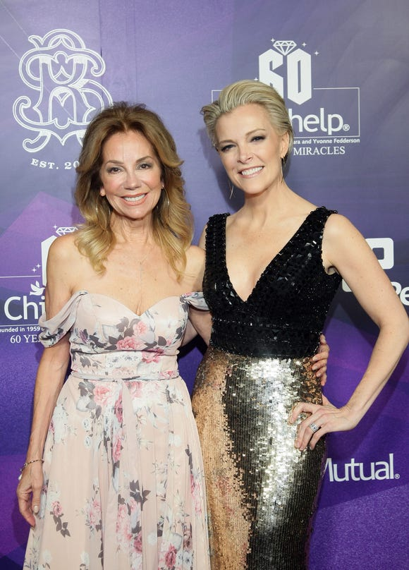 Kathie Lee Gifford and Megyn Kelly pose for photos on the red carpet during the Childhelp's 15th annual Drive The Dream Gala at The Phoenician Resort on Feb. 02, 2019 in Scottsdale, Ariz.