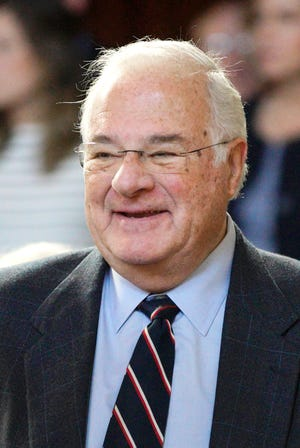 """In this Jan. 10, 2018 photo, online brokerage TD Ameritrade founder Joe Ricketts attends the swearing-in ceremony of his son, Neb. Gov. Pete Ricketts, in Lincoln, Neb. The patriarch of the family behind the Chicago Cubs has apologized after an online media outlet published emails in which he took part in racist comments and conspiracy theories. Some of the emails Splinter News published Monday, Feb. 4, 2019, featured Ricketts making Islamophobic comments. Others included conspiracies about former President Barack Obama's birthplace and education. Ricketts apologized for the emails, saying he believes """"bigoted ideas are wrong."""""""
