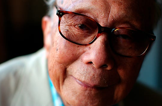"""This Sept. 28, 2002 file photo shows author C.Y. Lee in New York. Lee, 102, the author of the best-selling """"The Flower Drum Song"""" died on Nov. 8 in Los Angeles. The family decided at the time not to make his death public."""