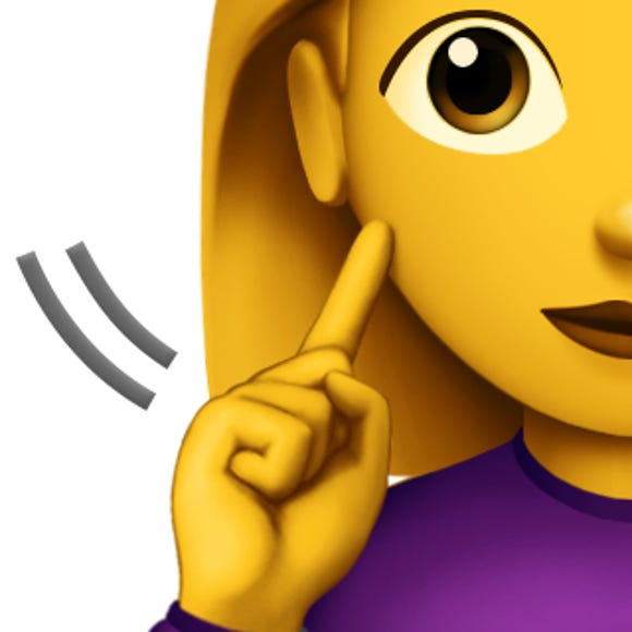 An emoji representing a deaf person.