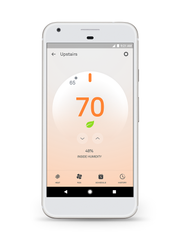 A smart thermostat can be controlled with a smart phone, giving you peace of mind no matter where you are.