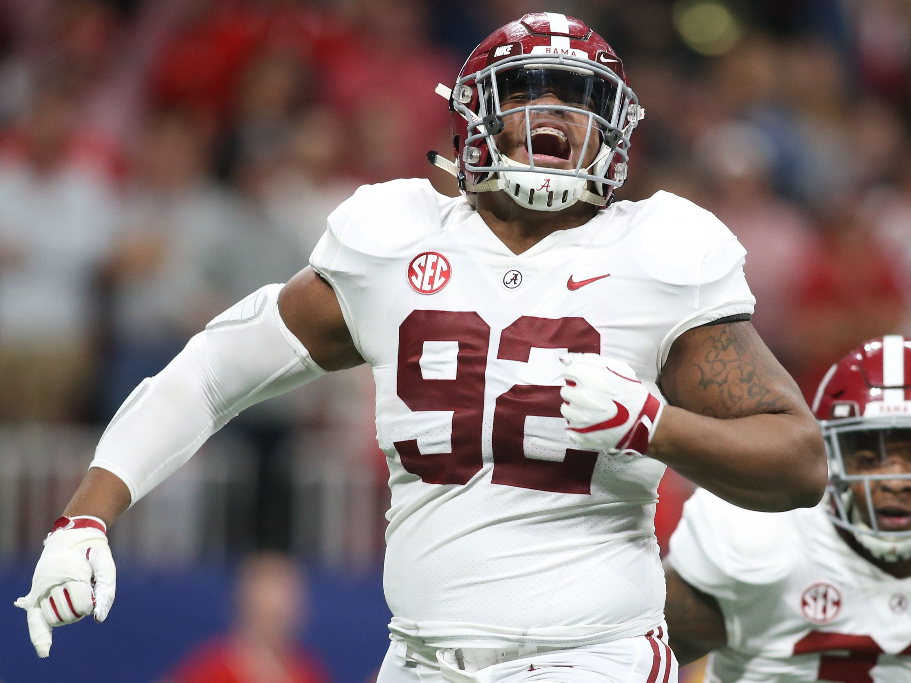 2. 49ers - Quinnen Williams, DT, Alabama
