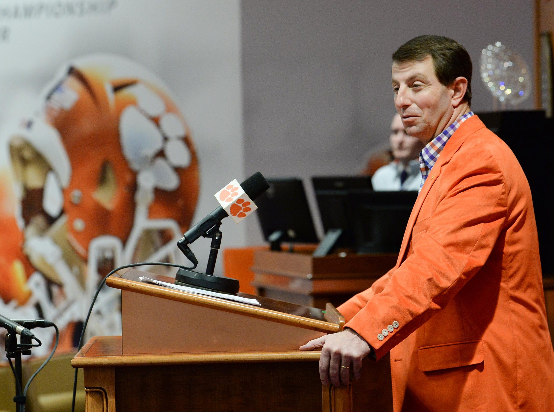 during National Letter of Intent signing day press conference in Clemson Wednesday.