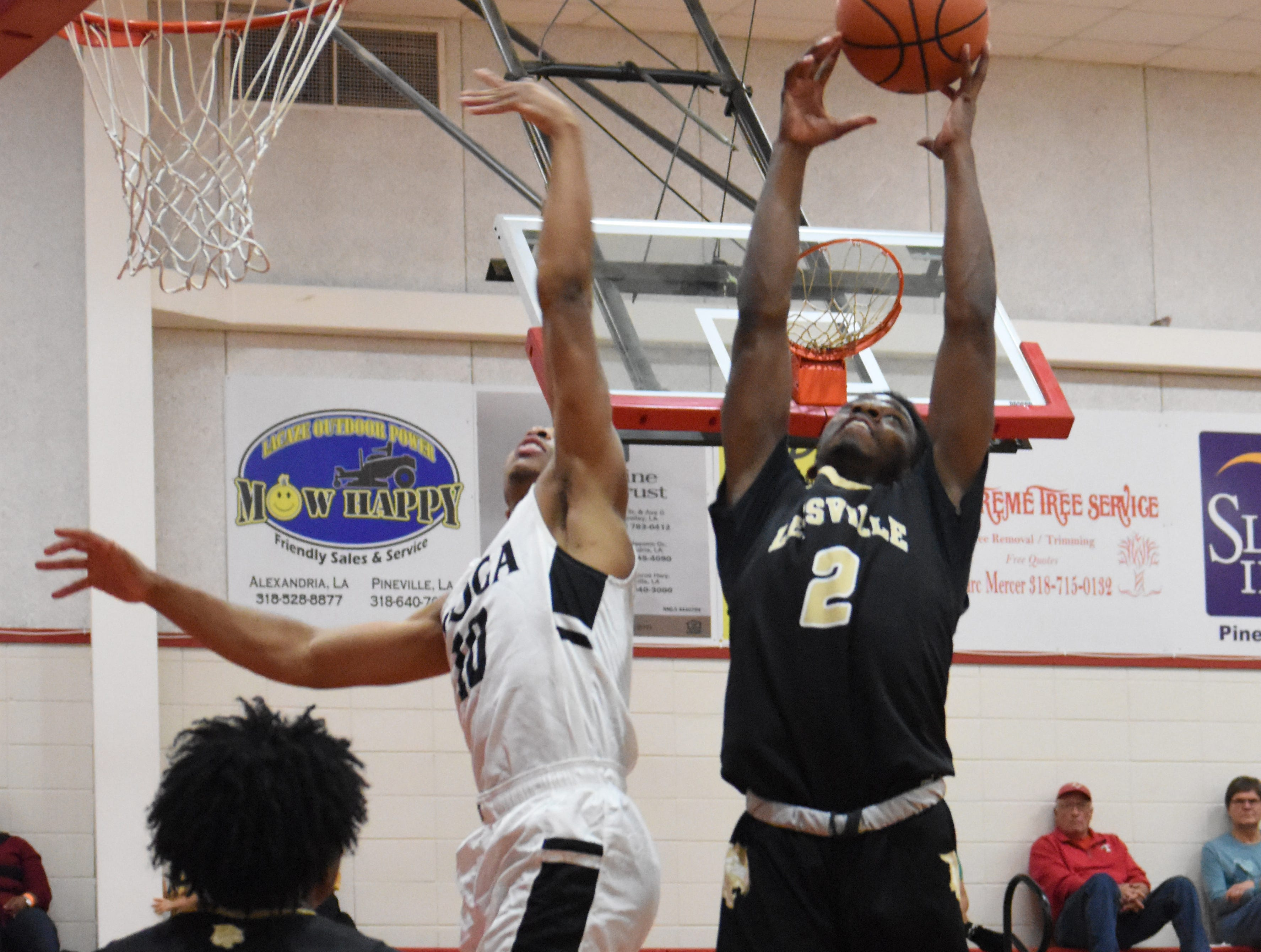 Tioga High School boys hosted Leesville High School in the District 3-4A championship  Tuesday, Feb. 5, 2019. Leesville won 55-53.