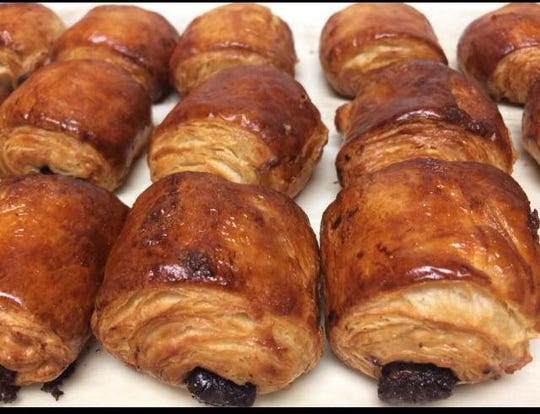 Chocolate croissants from 502 Baking Company in Brick.