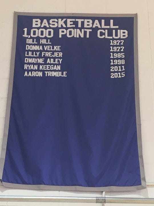 The 1,000th point banner hanging in the Howell High School gym will need an update after Matt Ganter reached that milestone on Feb. 5, 2019.