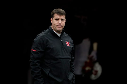 Rutgers head coach Chris Ash looks on prior to an NCAA college football game, Saturday, Nov. 17, 2018, in Piscataway, N.J. (AP Photo/Julio Cortez)