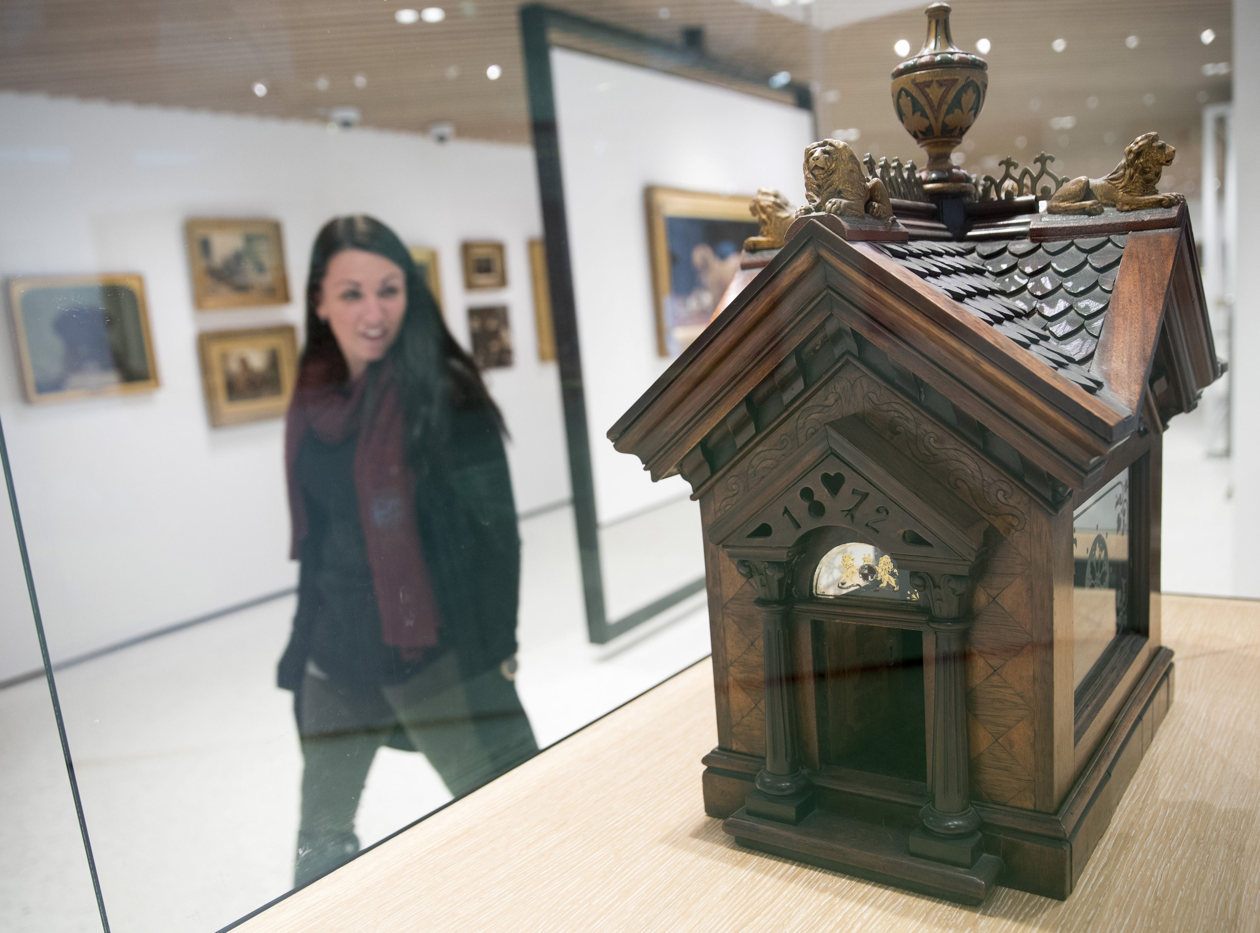 A British Edwardian-style Dog House for a Chihuahua is on display at the American Kennel Club Museum of the Dog in New York.  AP This Wednesday, Jan. 9, 2019, photo shows a British Edwardian-style Dog House for a Chihuahua on display at the American Kennel Club Museum of the Dog in New York. The museum opens Feb. 8.  (AP Photo/Mary Altaffer)