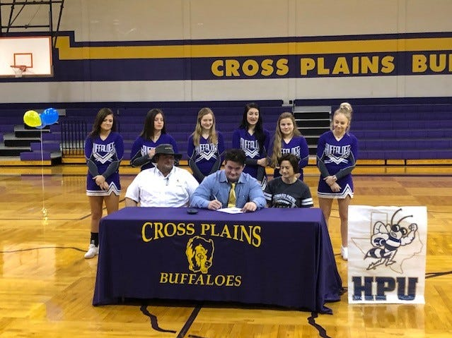 Cross Plains' Jacob Collier signed to play football at Howard Payne.