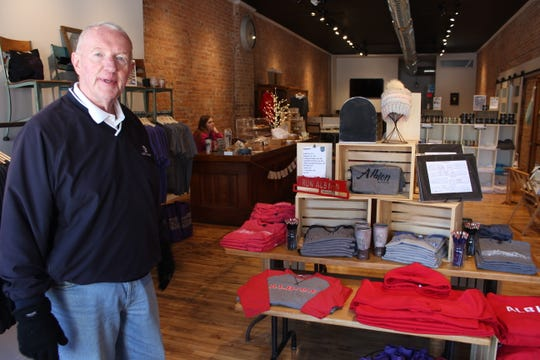 In the past year, Albion businessman Dr. Bill Dobbins opened up an Albion gift shop in downtown Albion.