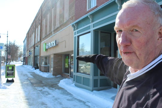 Dr. Bill Dobbins talks about his redevelopment efforts on Superior Street in downtown Albion.