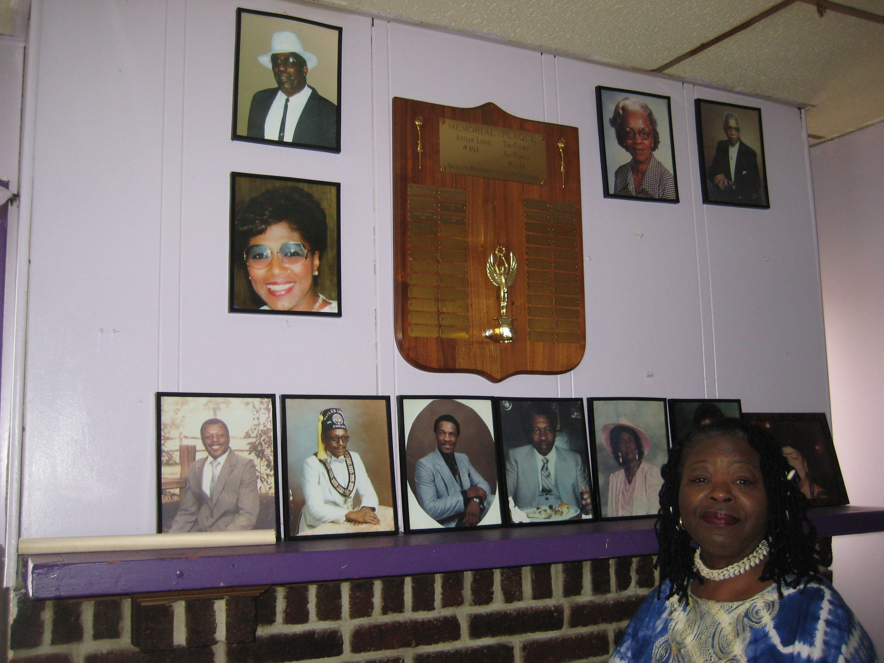 "2012: Retired social worker Brenda Brown of Endwell stands inside the ""Black Elks"" lodge, in Binghamton. The fraternal organization has played a vital role in local African American history, said Brown, who has created a Black History Month display that will be exhibited throughout February at the Broome County Public Library."