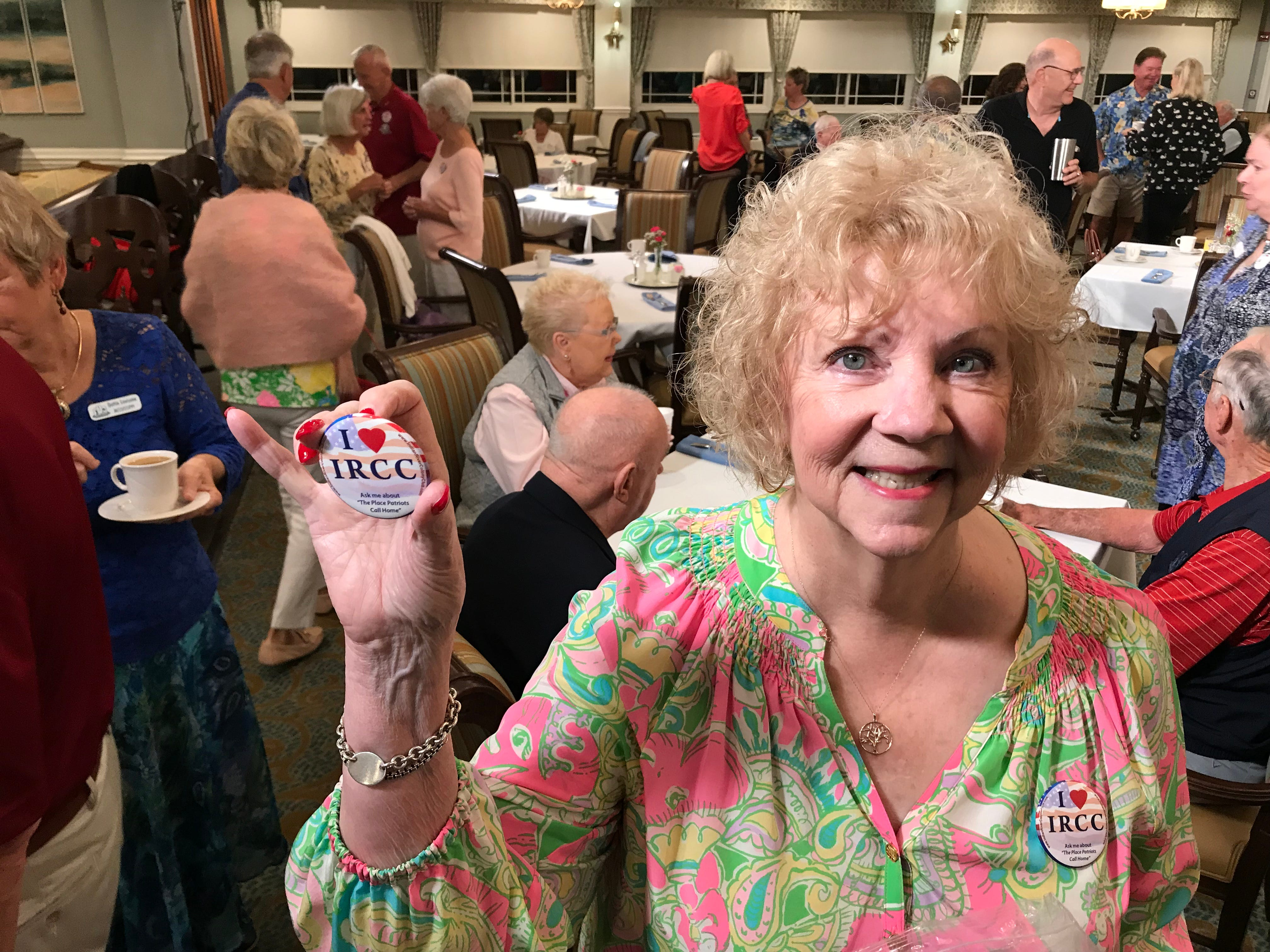 """""""Fox & Friends"""" correspondent Todd Piro joined patrons - including Diane Baxter -  at the Indian River Colony Club in Viera to hear their reactions to President Trump's State of the Union address."""