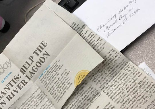 Readers have mailed their responses to FLORIDA TODAY's editorial urging Gov. Ron DeSantis to help clean up the Indian River Lagoon.