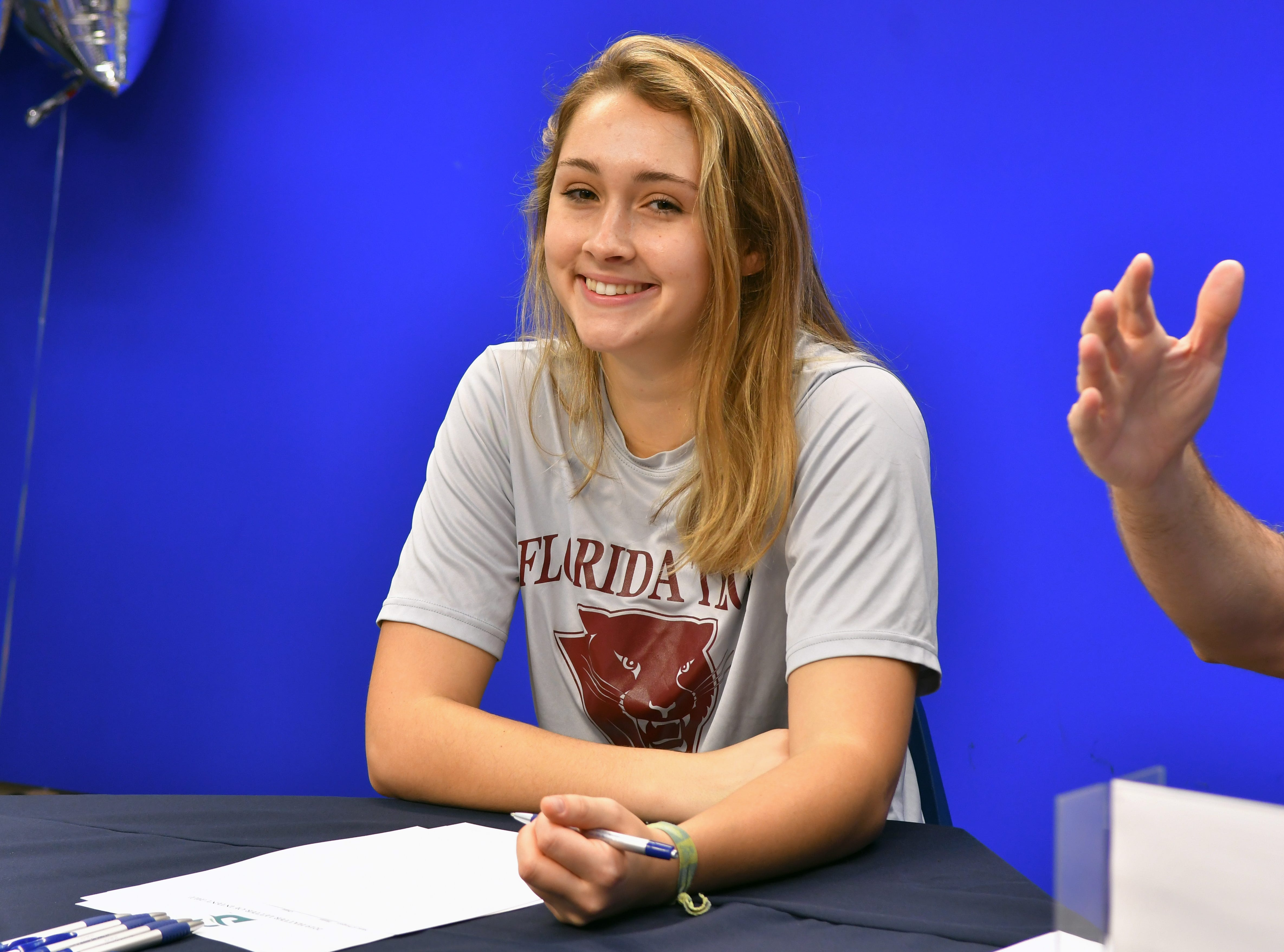 Avery Kloeppel, signing with Florida Tech , was among five soccer athletes from West Shore Junior/Senior High School in Melbourne signed letters of intent on Wednesday
