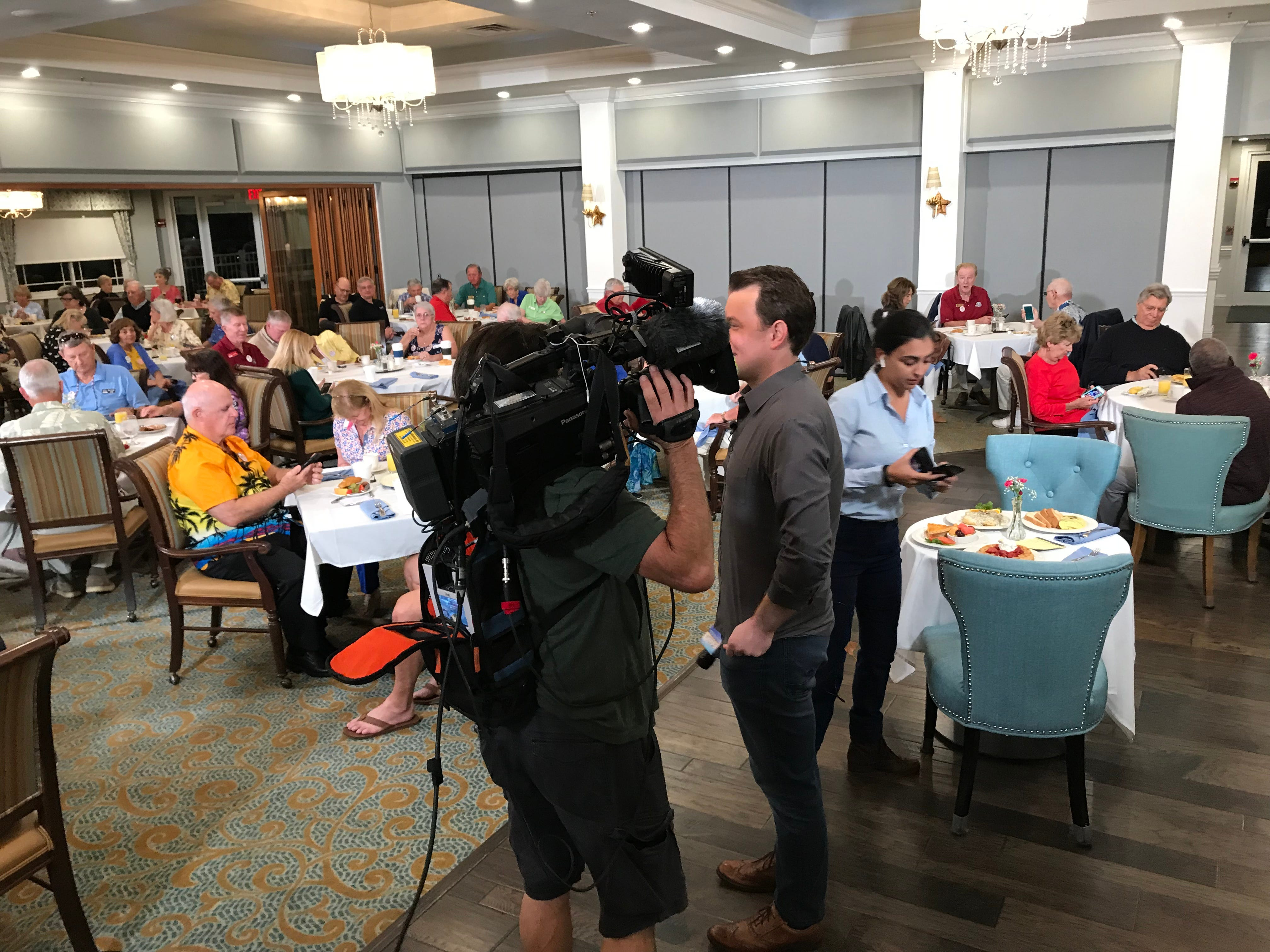 """""""Fox & Friends"""" correspondent Todd Piro joined patrons at the Indian River Colony Club in Viera to hear their reactions to President Trump's State of the Union address."""