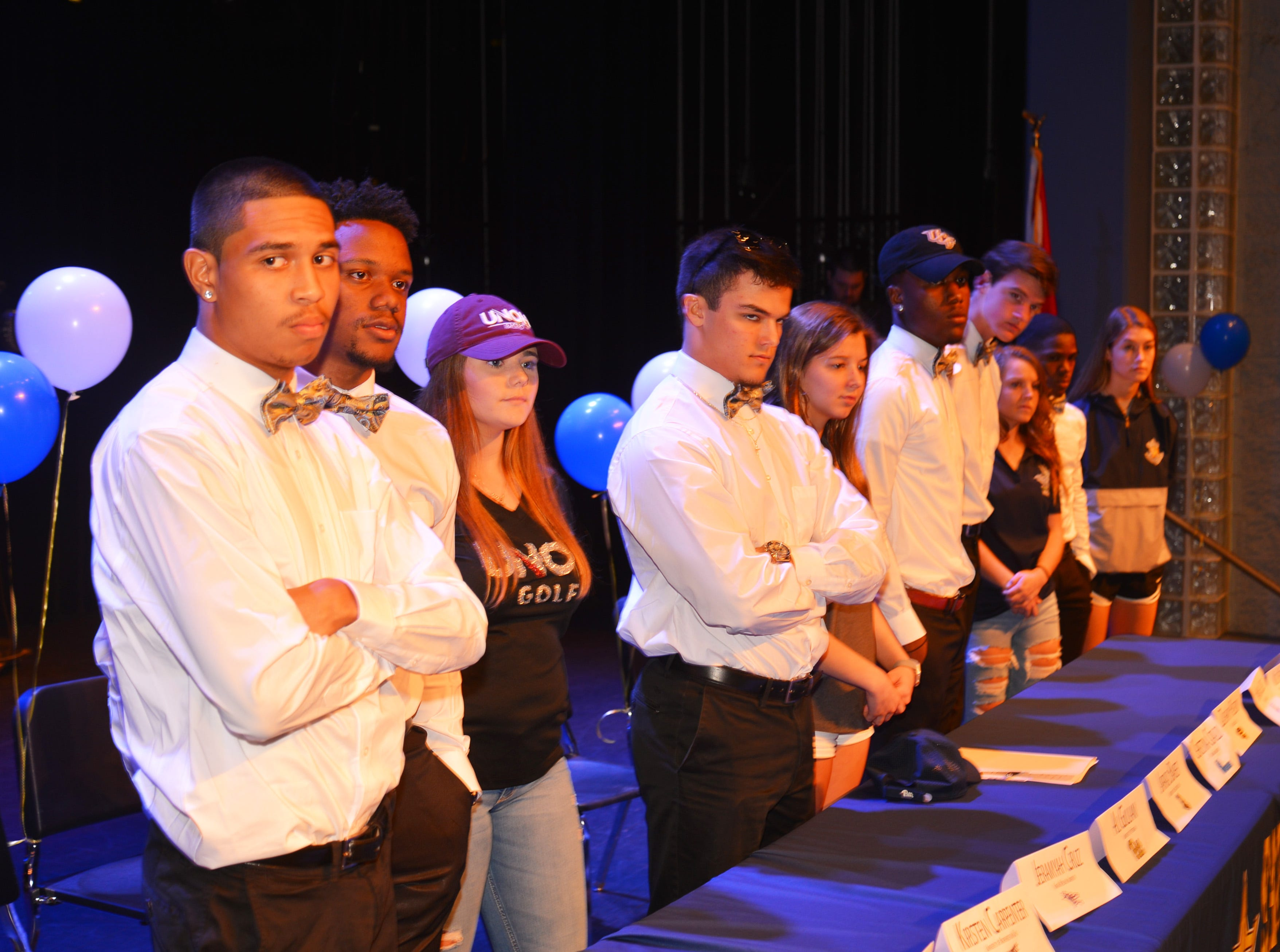 Eau Gallie High School had 11 athletes sign letters of intent on Wednesday.