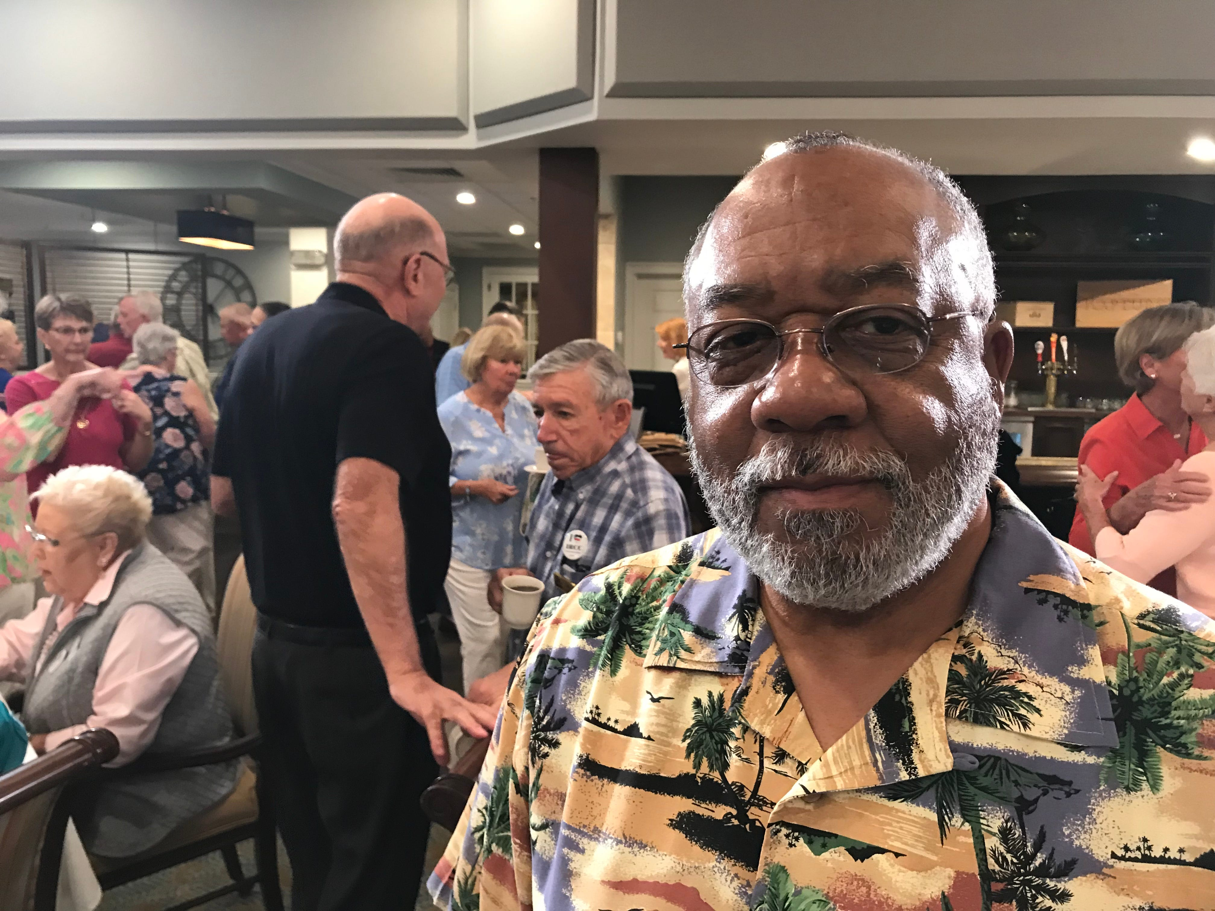 """""""Fox & Friends"""" correspondent Todd Piro joined patrons - including Robert Watts - at the Indian River Colony Club in Viera to hear their reactions to President Trump's State of the Union address."""