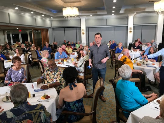 """Fox & Friends"" correspondent Todd Piro joined patrons at the Indian River Colony Club in Viera to hear their reactions to President Trump's State of the Union address."