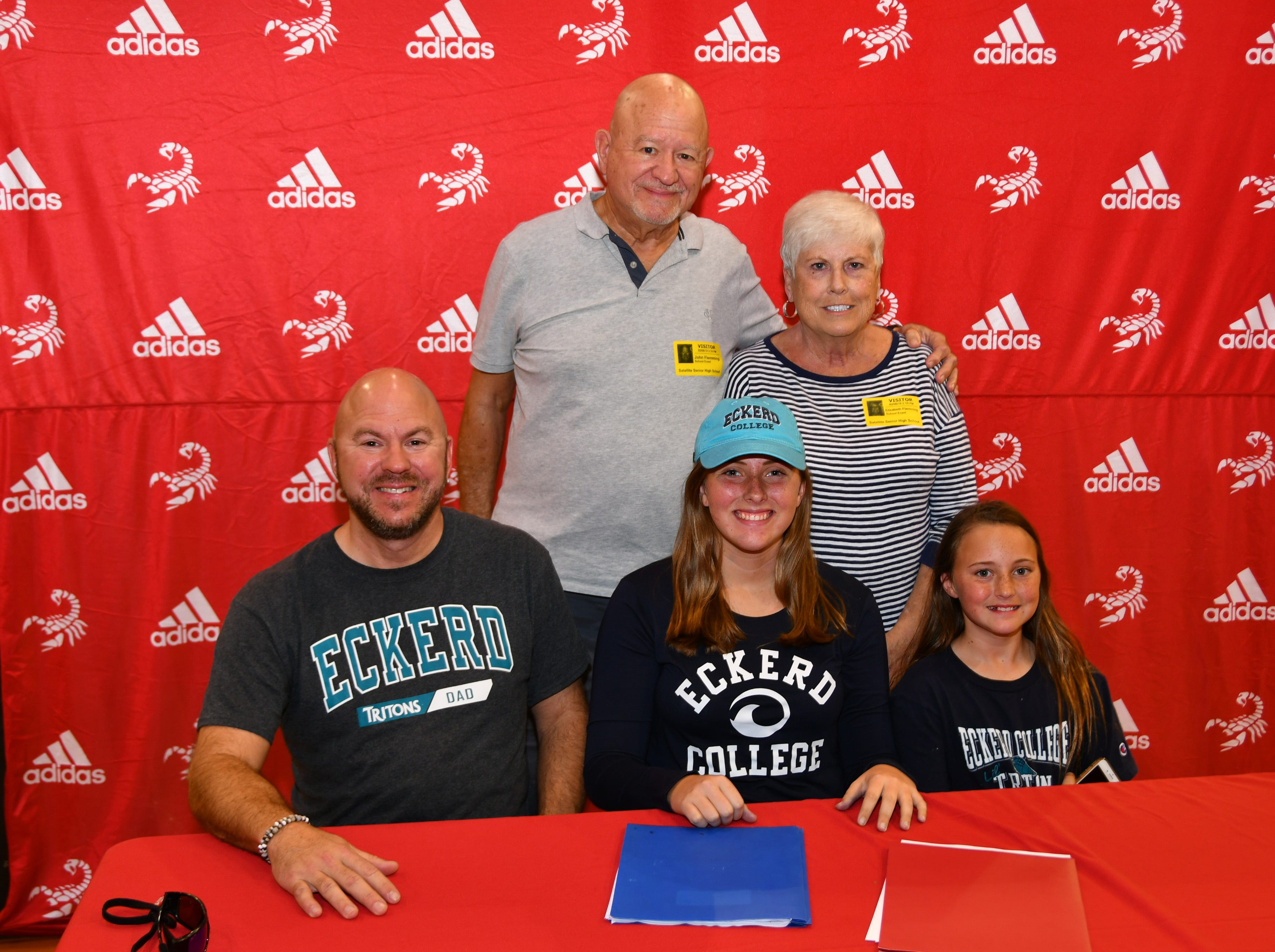 Satellite Had seven students sign letters of intent on Wednesday. Morgan Flemming with her family.