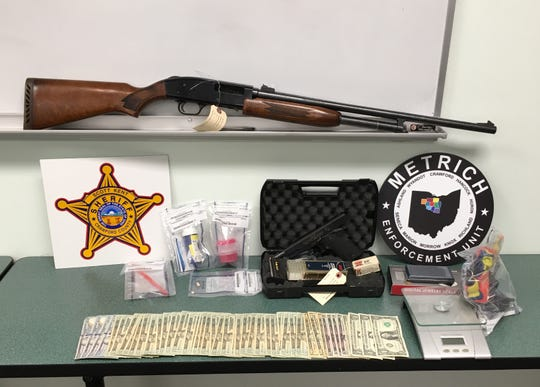 During a search of 6867 Leesville Road, Crestline, on Feb. 5, officers found drugs, drug paraphernalia, firearms and cash, according to a news release from the Crawford County Sheriff's Office.