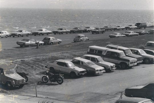 Parking is a perennial problem when you go to school on Ward Island. This image was taken when the school was known Corpus Christi State University.