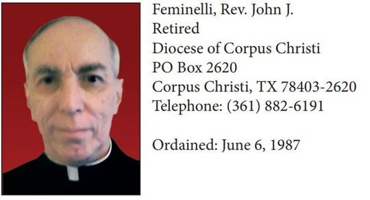Rev. John Feminelli was accused of attempting to seduce a young boy in the 1980s. He retired from the diocese in 2007.