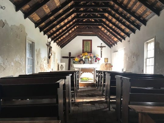Inside La Lomita Chapel in Mission, Texas.