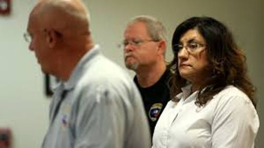 Sylvia Carrillo-Trevino, seen at right in this file photo, is no longer an assistant city manager in Corpus Christi. She believes her management style ran afoul with the interim city manager, resulting in her dismissal from City Hall. She and the interim manager are in the running to permanently fill the City Manager post.