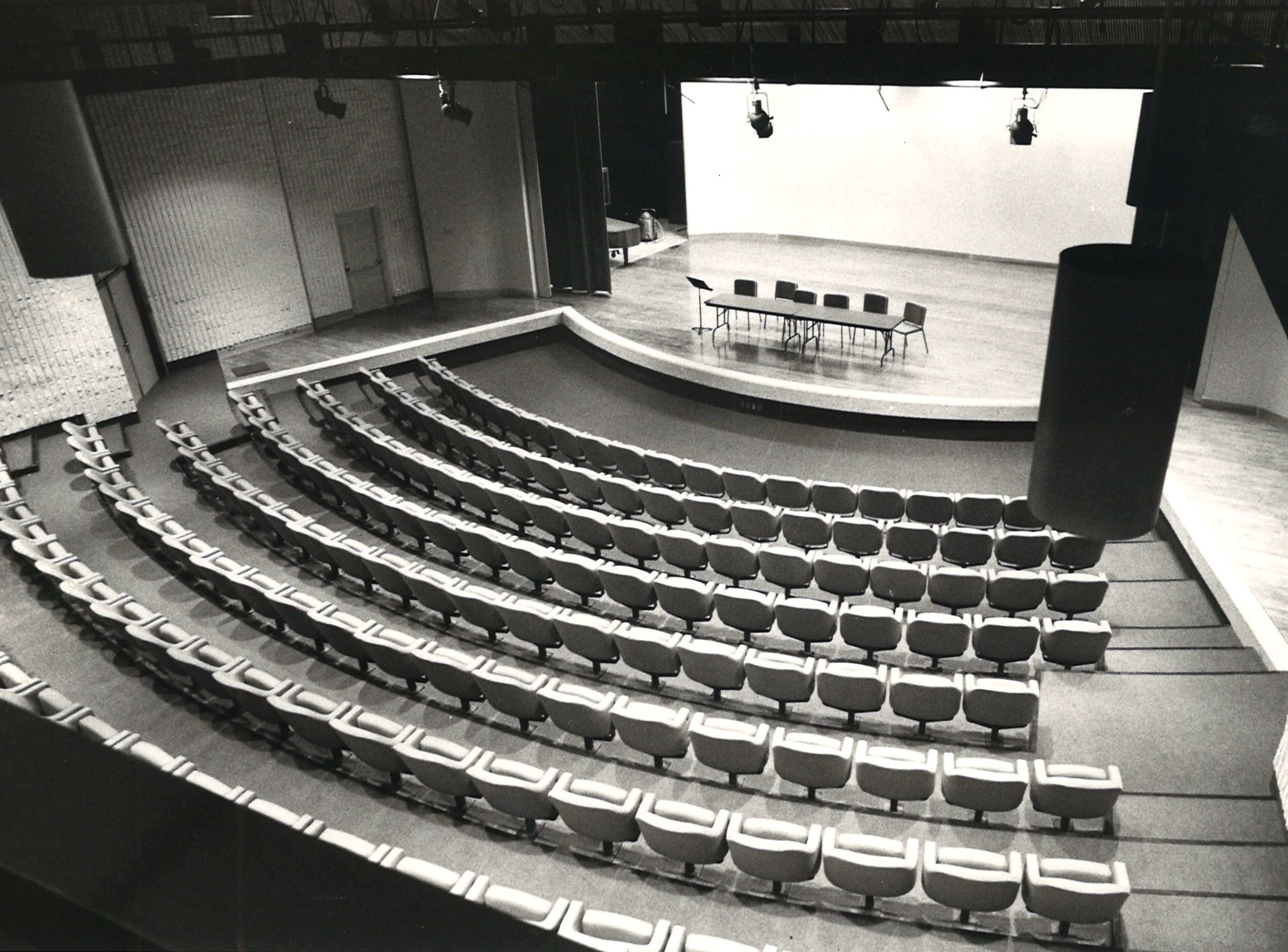 Warren Theater in Corpus Christi State University's Center for the Arts in March 1979.