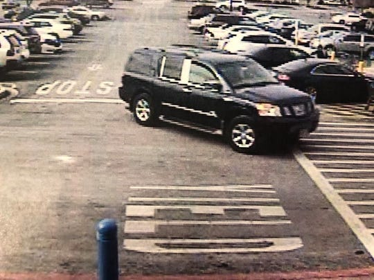 Berlin Township police say this car was involved in a hit-and-run in the parking lot of a Walmart store on Route 73 South in West Berlin on Wednesday. They are asking the public to help identify the female driver, who was also photographed.