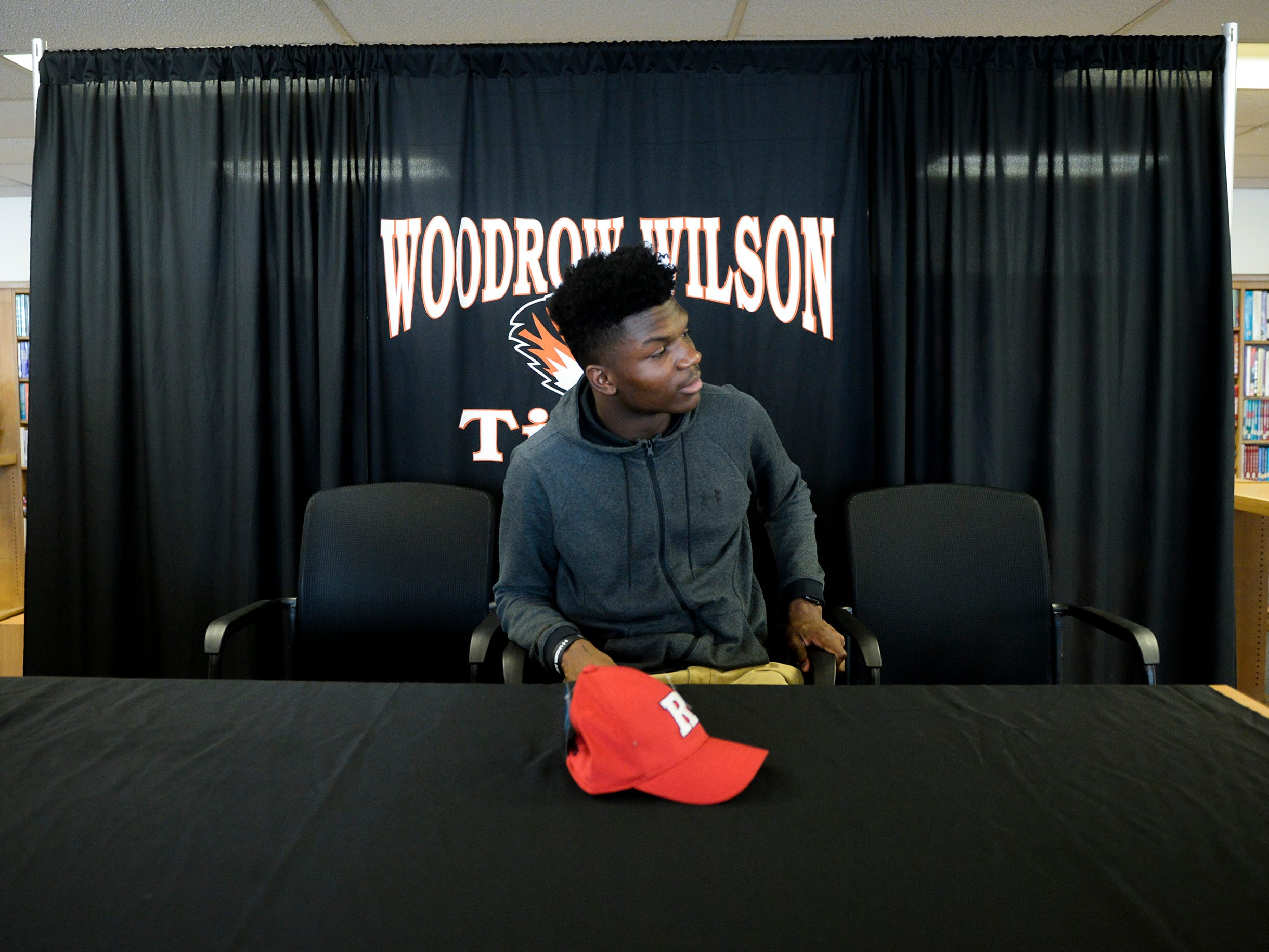 Woodrow Wilson wide receiver Stanley King will officially continue his football career at Rutgers University following an announcement Wednesday, Feb. 6, 2019 at Woodrow Wilson High School in Camden, N.J.