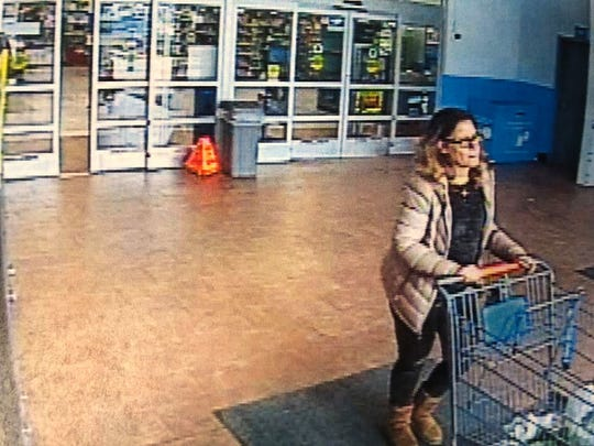 Berlin Township police seek the public's help in identifying this woman involving a hit-and-run in the parking lot of a store. A victim's front bumper was knocked off.