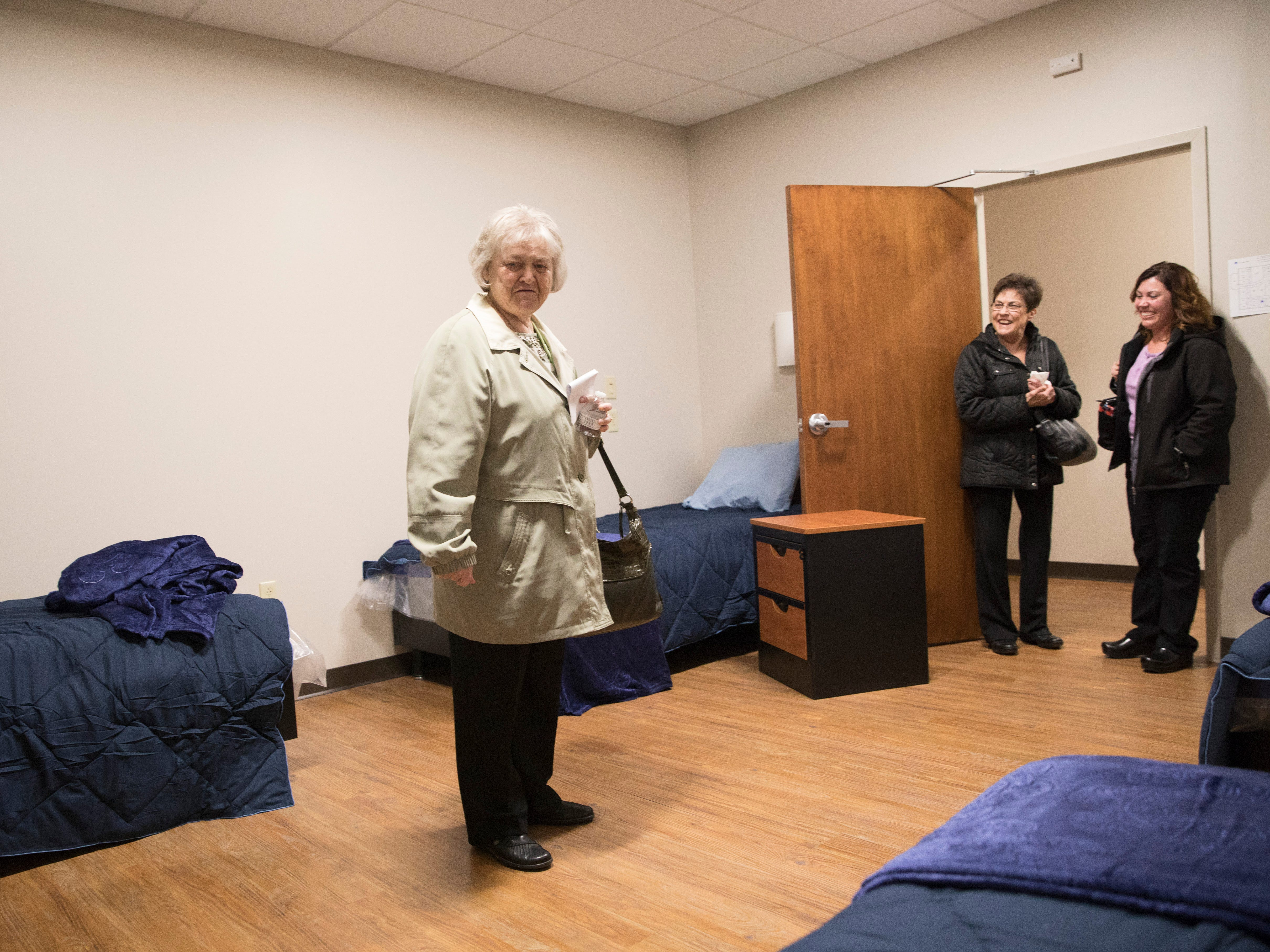 The Rulon Center, a treatment center for men with 36 beds, held its ribbon cutting and invited guests to tour the new facility on Feb. 5, 2019. The center, which officially opens on Wednesday, is named after Marsha Rulon, who volunteered for the mental health center's crisis line in the 1980s and is now on the board.