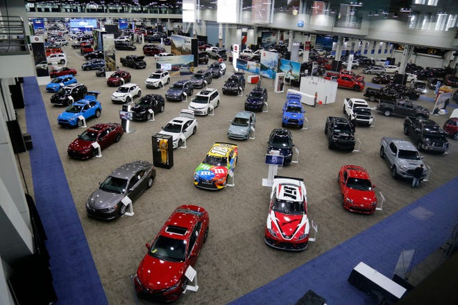 The main showroom at the Cincinnati Auto Expo inside the Duke Energy Convention Center in downtown Cincinnati on Wednesday, Feb. 6, 2019.