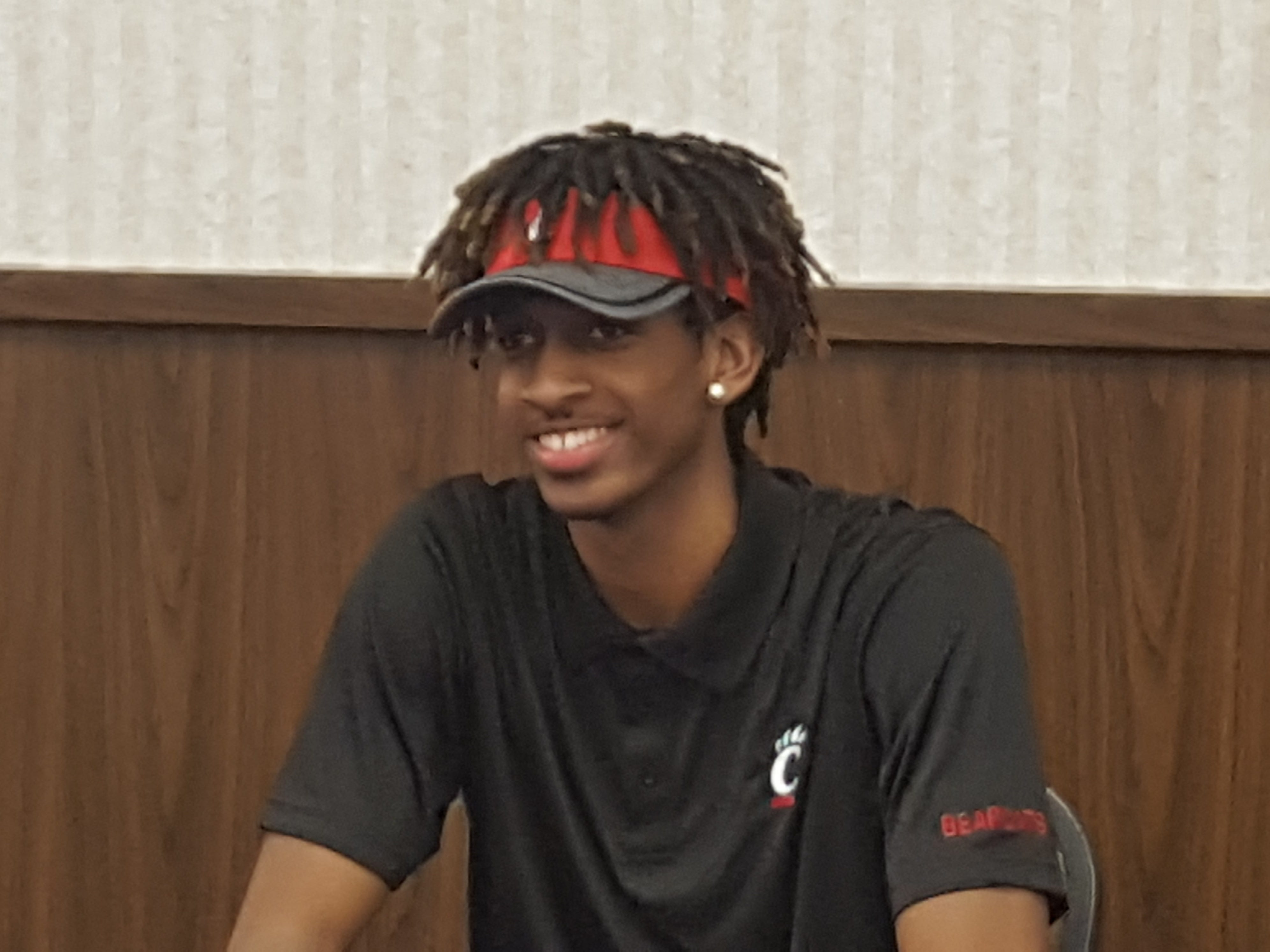 Bryant Johnson of Vandalia Butler signed Feb. 6 to play football for the University of Cincinnati. He is a 6-foot-6 wide receiver.