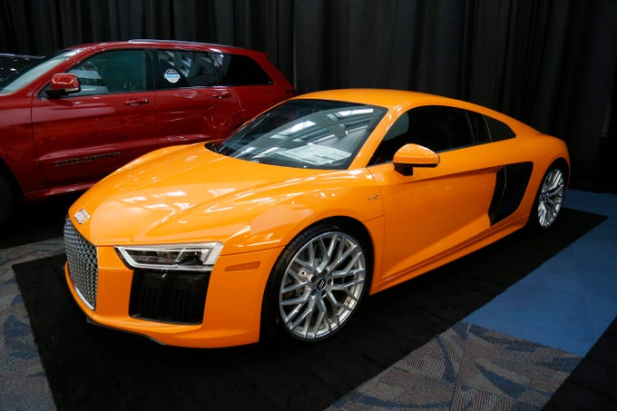 A 2017 Audi R8 V10 at the Cincinnati Auto Expo inside the Duke Energy Convention Center in downtown Cincinnati on Wednesday, Feb. 6, 2019.