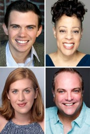 """Ryan Bowie, Brooke Leigh Davis, Brian Best and Emma Jordan star in THE ALL NIGHT STRUT! at the Roxy Regional Theatre, February 14 - March 2"""""""