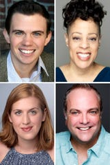 Ryan Bowie, Brooke Leigh Davis, Brian Best and Emma Jordan star in THE ALL NIGHT STRUT! at the Roxy Regional Theatre, February 14 - March 2""