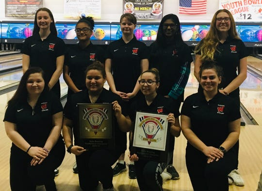 Woodbridge won the 2018-19 GMC girls bowling tournament