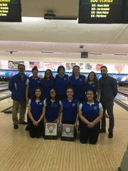 The Carteret girls bowling team