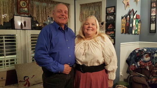 """James Houston and Cynthia Stetz, who will be in the opening act of """"With This Ring."""""""