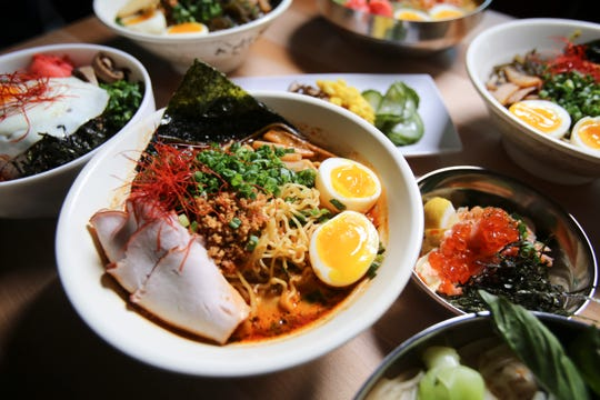 Spicy tori ramen with smoked pork loin from Ima in Madison Heights.