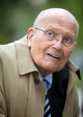 Congressman John Dingell, who represents Michigan's 12th district is the longest serving congressman in history.  He is in Ann Arbor, Mich. Tuesday, May 14, 2013 for a new $22.8 million replacement bridge project with Dept. of Transportation Secretary Ray LaHood.