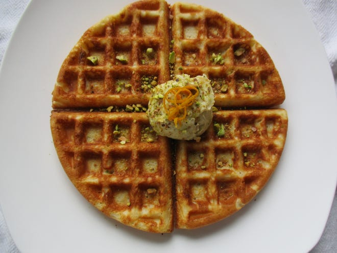 Gluten-free Waffles with Pistachio Butter