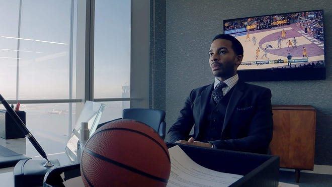 """Andre Holland in """"High Flying Bird."""""""