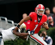 Quarterback Justin Fields transferred to Ohio State from Georgia.