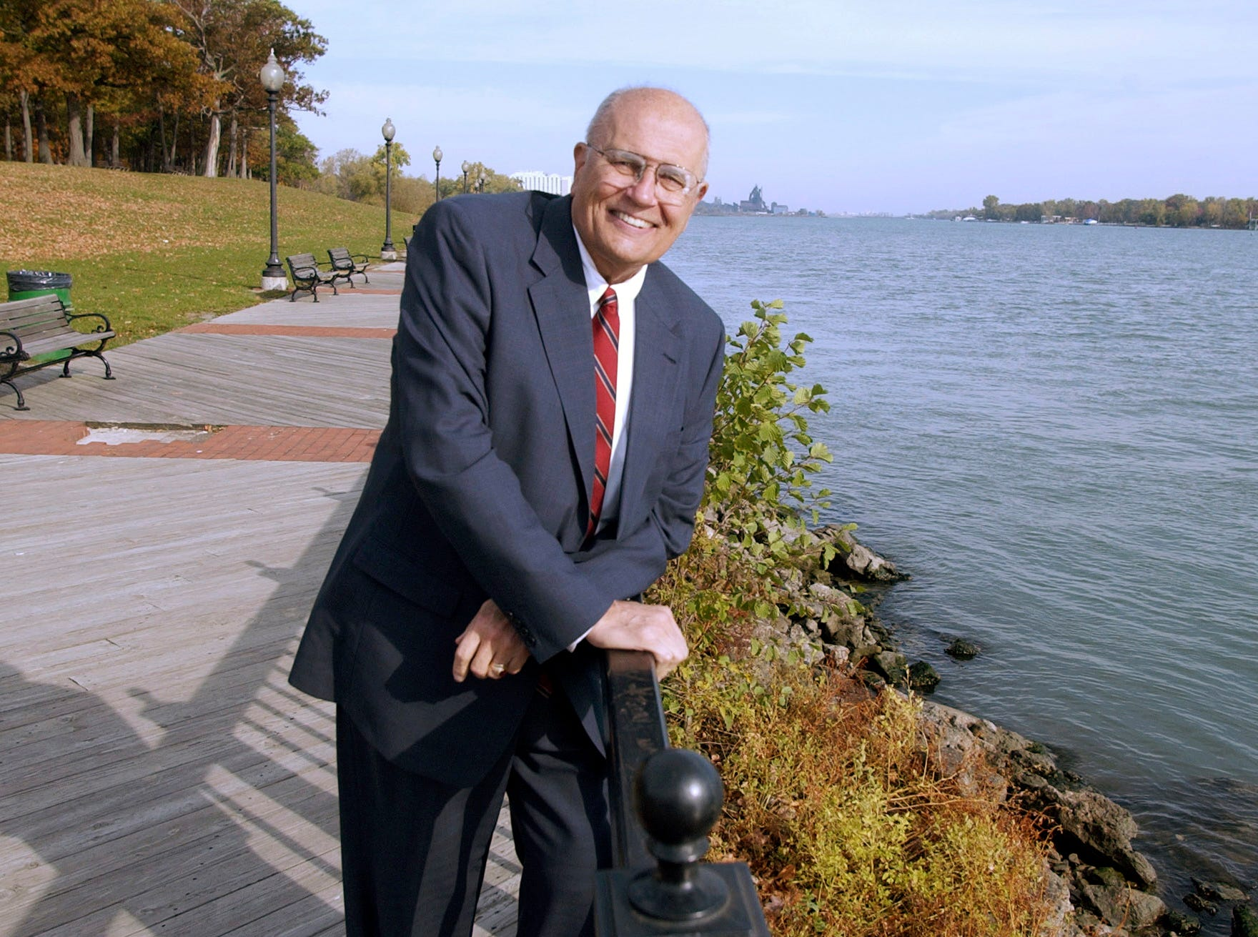 Seen in 2003 in Trenton, Dingell sponsored a bill to establish an international wildlife refuge along the lower Detroit River. Dingell also was instrumental in preserving Humbug Marsh near Gibraltar as the centerpiece of the wildlife refuge.