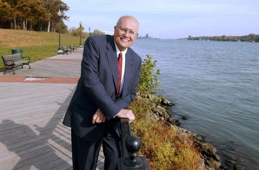 Seen in 2003 in Trenton, Dingell sponsored a bill to establish an international wildlife refuge along the lower Detroit River. Dingell also was instrumental in preserving Humbug Marsh near Gibraltar as the centerpiece of the wildlife refuge.